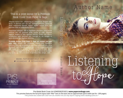 Print layout for Pre-Made Book Cover ID#0506201601 (Listening to Hope)