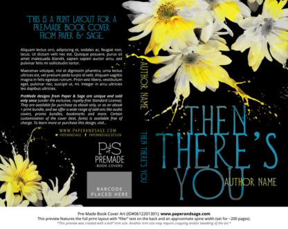 Print layout for Pre-Made Book Cover ID#0612201301 (Then There's You)