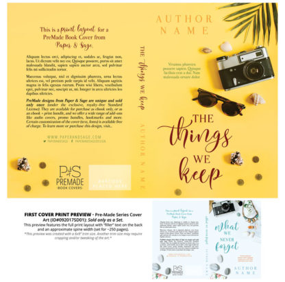 Print layout for PreMade Series Covers ID#092017SD01 (The Things We Keep Series, Only Sold as a Set)