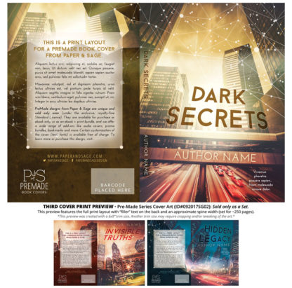 Print layout for PreMade Series Covers ID#092017SG02 (Invisible Truths, Only Sold as a Set)