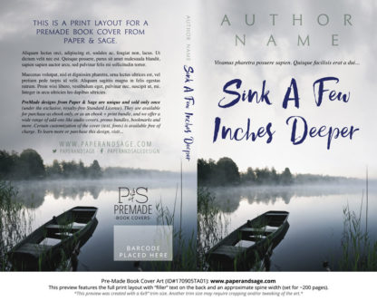 Print layout for Pre-Made Book Cover ID#170905TA01 (Sink a Few Inches Deeper)