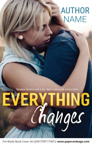 Pre-Made Book Cover ID#170911TA01 (Everything Changes)