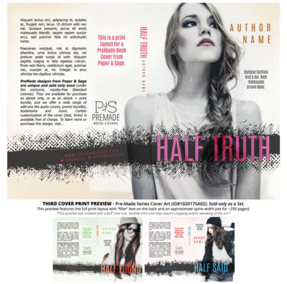 Print layout for PreMade Series Covers ID#102017SA02 (Half Found, Only Sold as a Set)