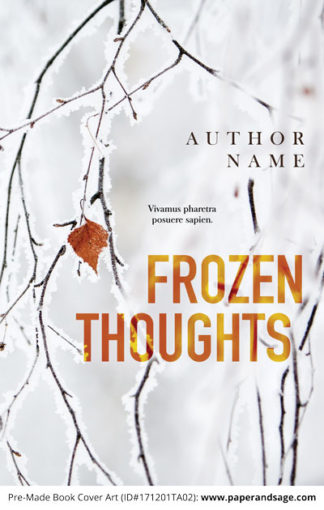 Pre-Made Book Cover ID#171202TA01 (Frozen Thoughts)